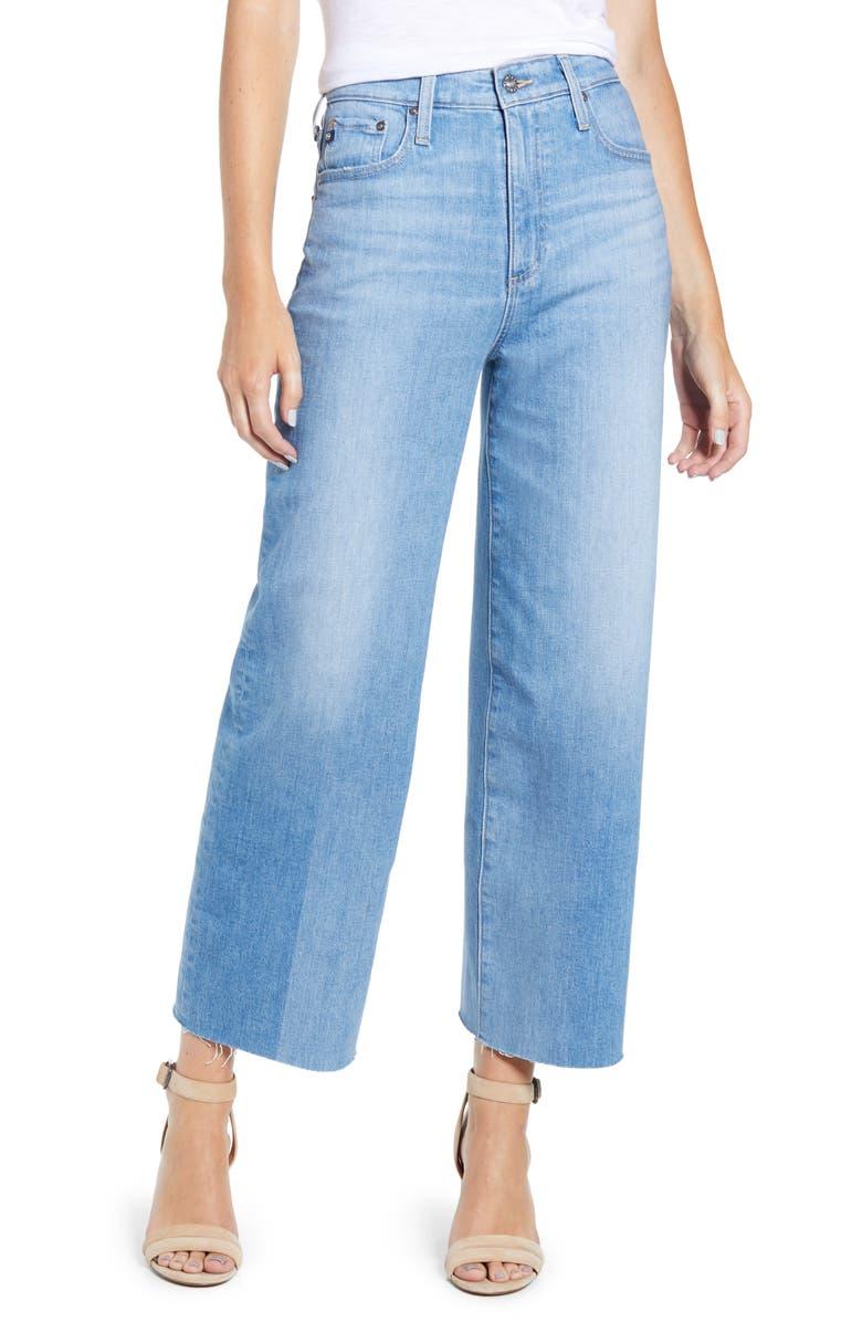 AG Etta Crop Wide Leg Jeans, Main, color, 468