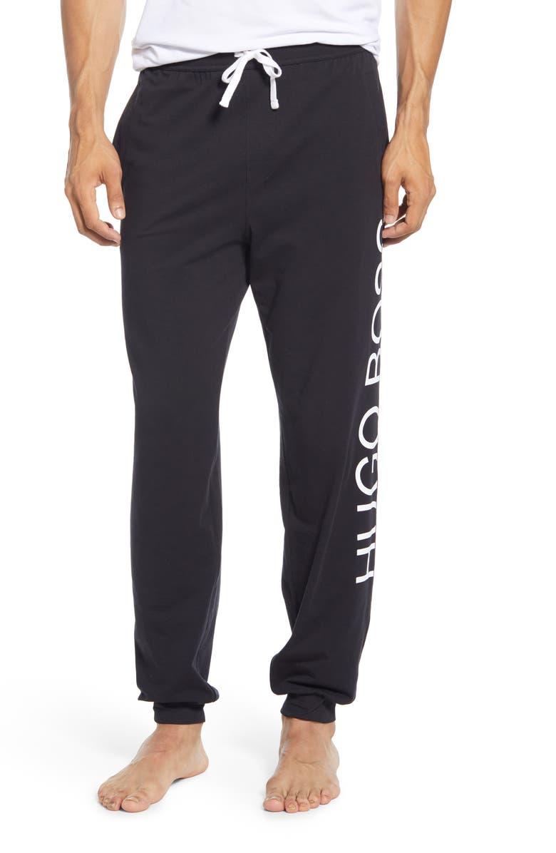 BOSS Identity Stretch Cotton Lounge Pants, Main, color, BLACK