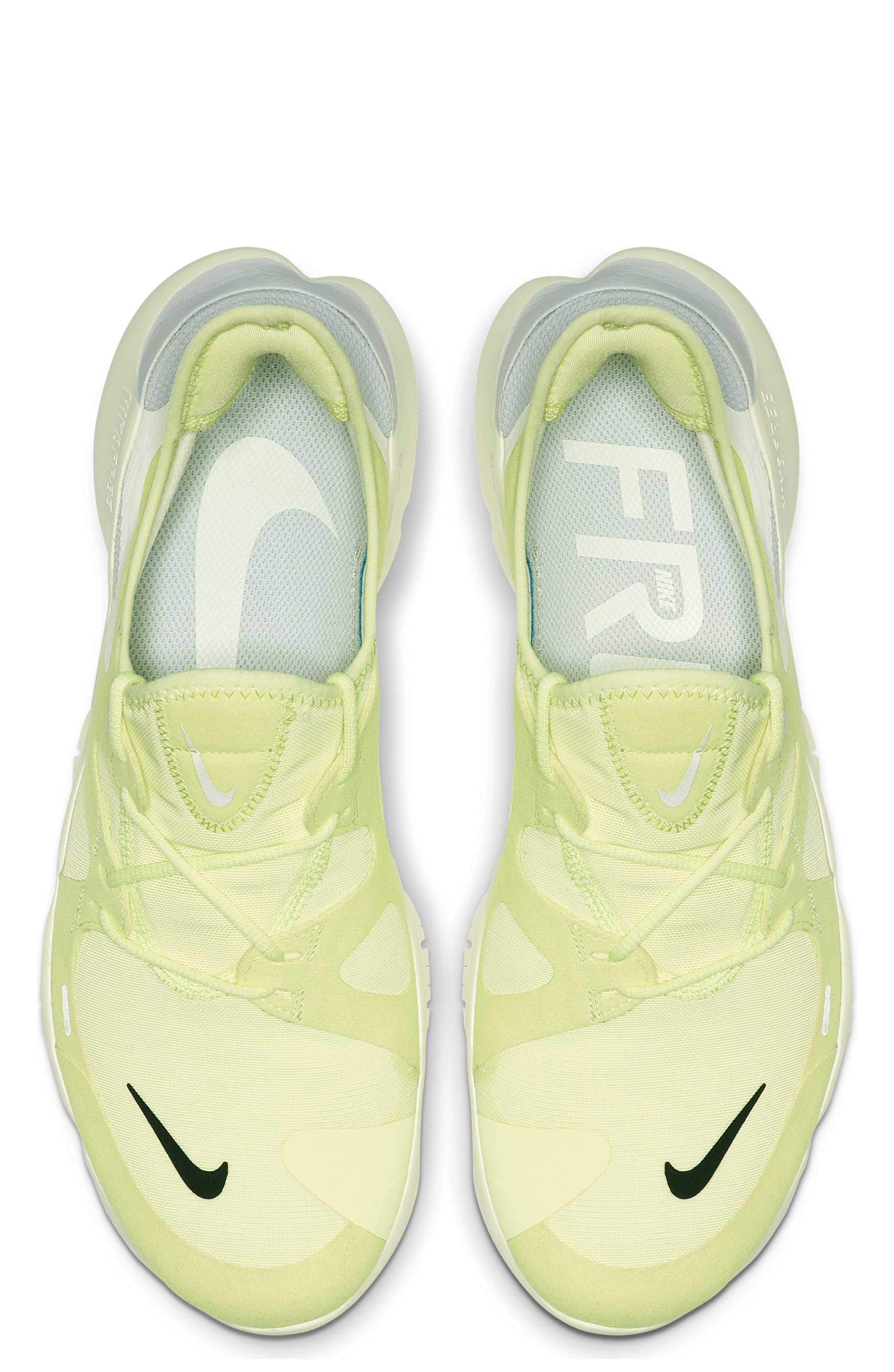 ,                             Free RN 5.0 Running Shoe,                             Alternate thumbnail 4, color,                             LUMINOUS GREEN/ BLACK/ SAIL