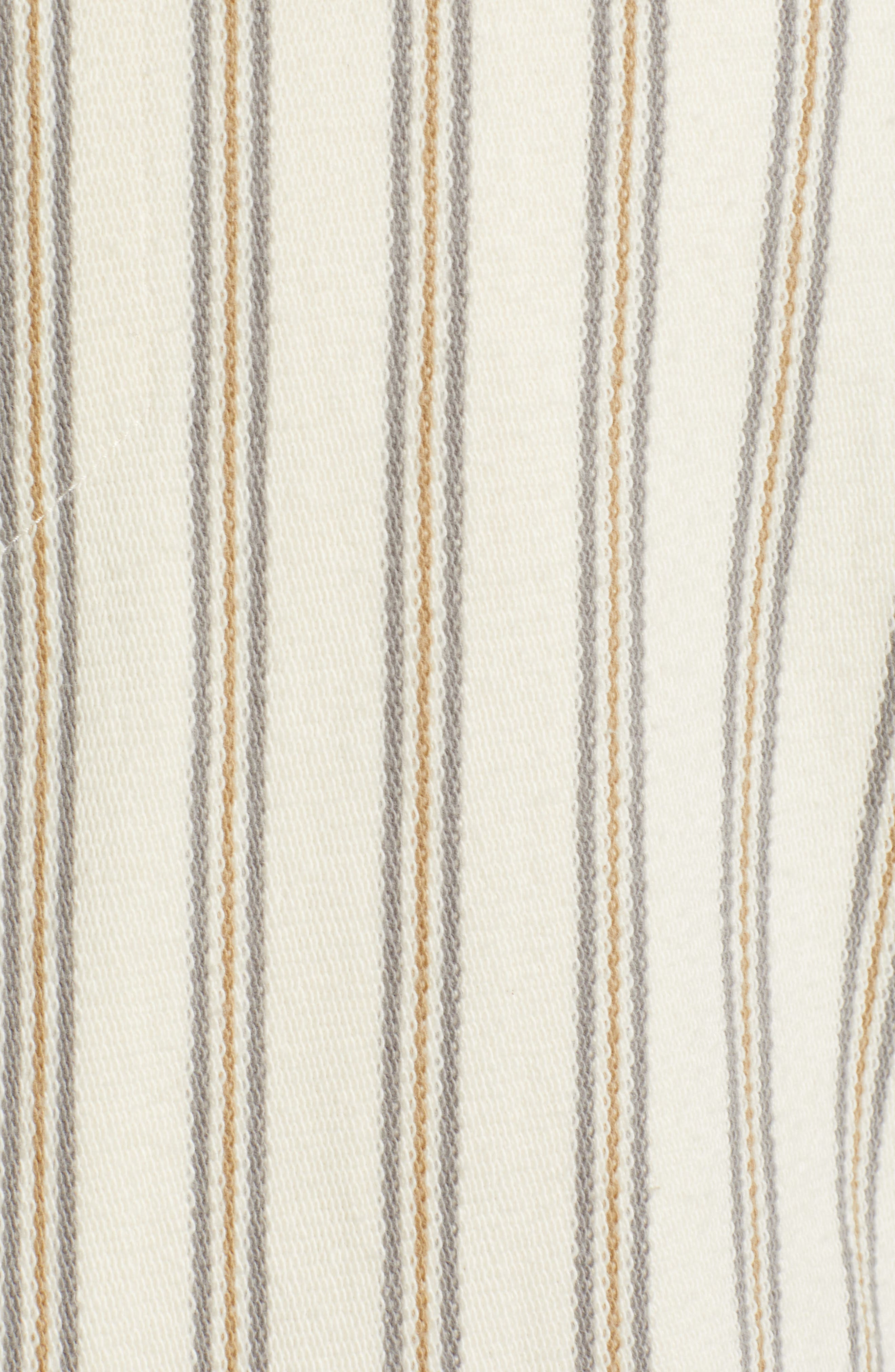,                             Stripe Slim Fit Half Zip Hoodie,                             Alternate thumbnail 5, color,                             SAIL/ DOVE GREY