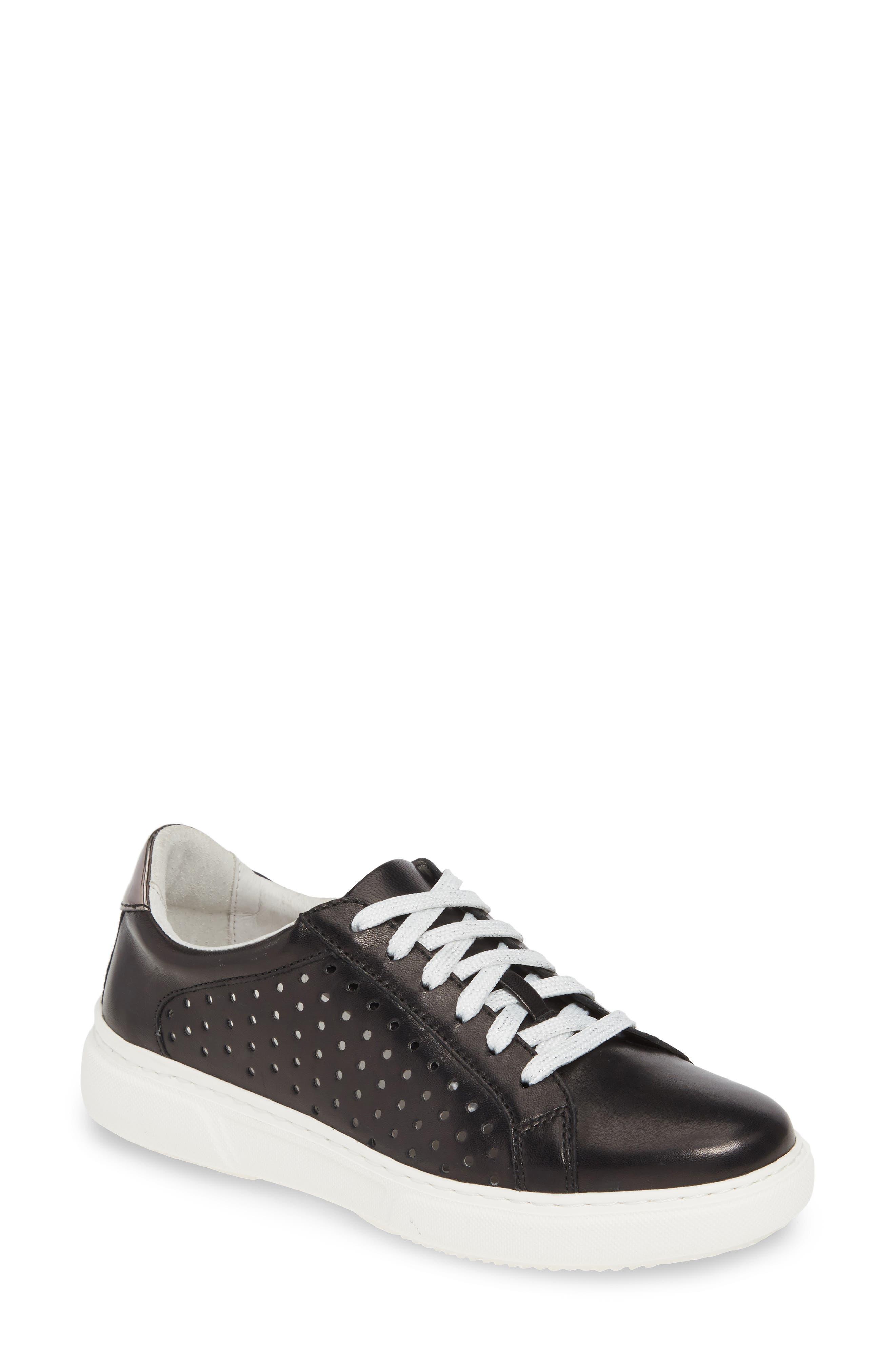 Johnston & Murphy Nora Perforated Sneaker, Black