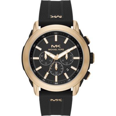Michael Kors Kyle Chronograph Silicone Strap Watch, 4m
