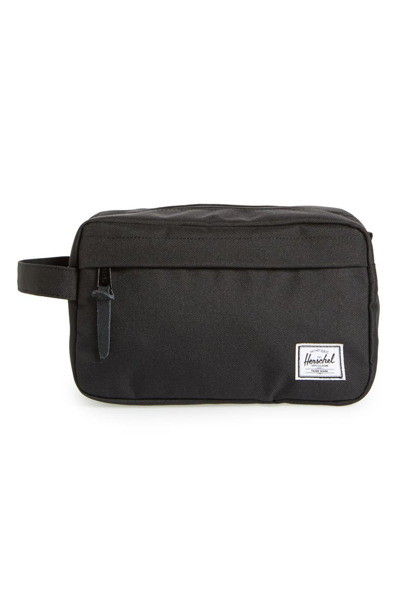 HERSCHEL SUPPLY CO. 'Chapter' Toiletry Case, Main, color, BLACK