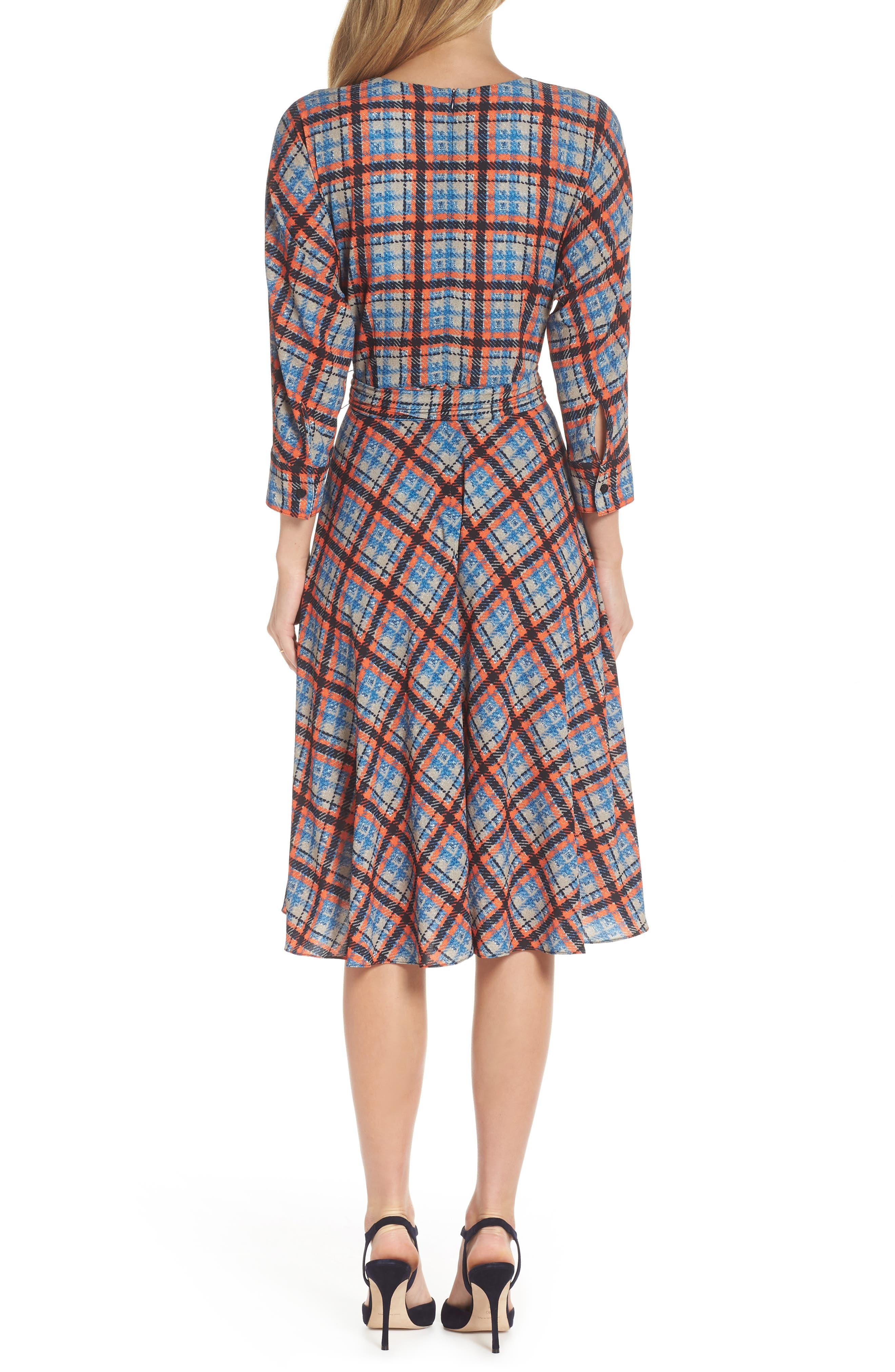 ,                             Plaid Faux Wrap Dress,                             Alternate thumbnail 2, color,                             810