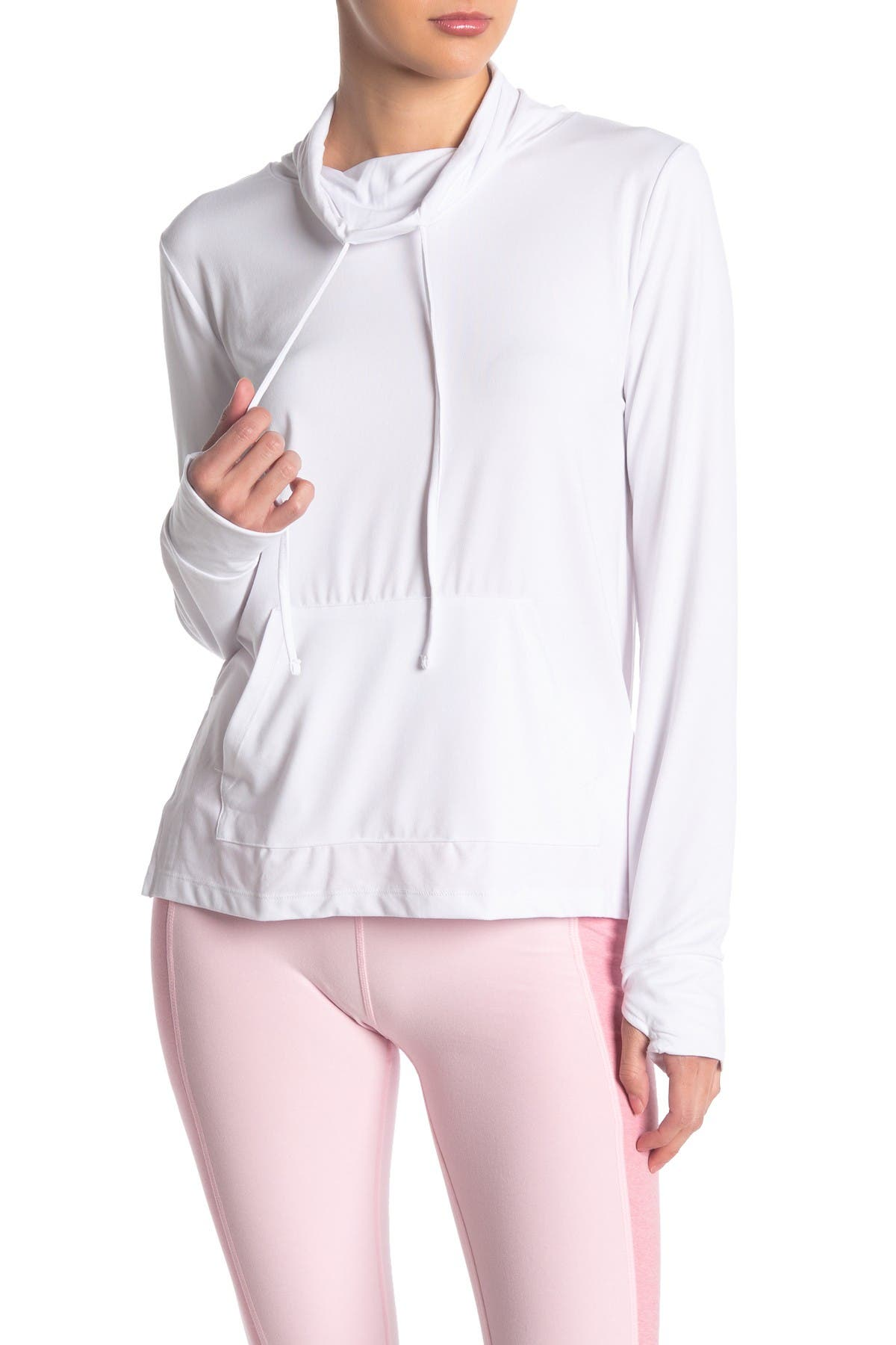 Image of X by Gottex Drawstring Cowl Neck Pullover