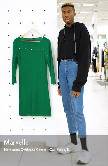 Studded Long Sleeve Sweater Dress, sales video thumbnail