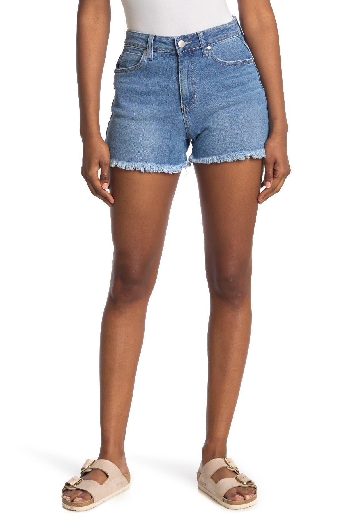 Image of Abound Fray Hemmed Sustainable Denim Shorts