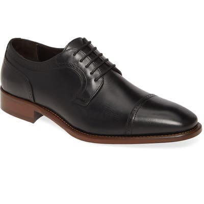 Johnston & Murphy Cormac Cap Toe Derby- Black