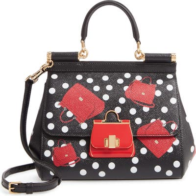Dolce & gabbana Small Miss Sicily Crazy For Sicily Leather Satchel - Black