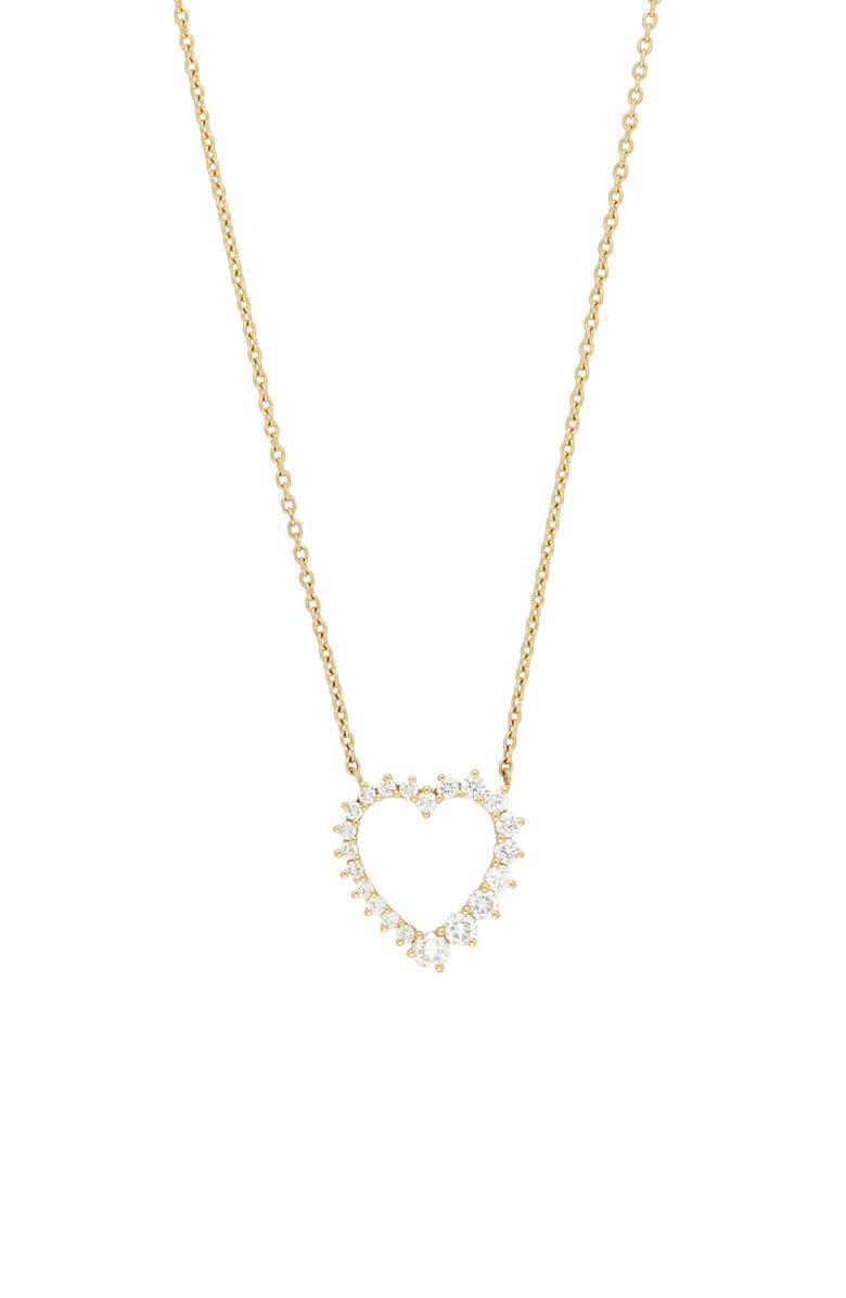 BONY LEVY Liora Graduated Diamond Heart Pendant Necklace, Main, color, YELLOW GOLD/ DIAMOND
