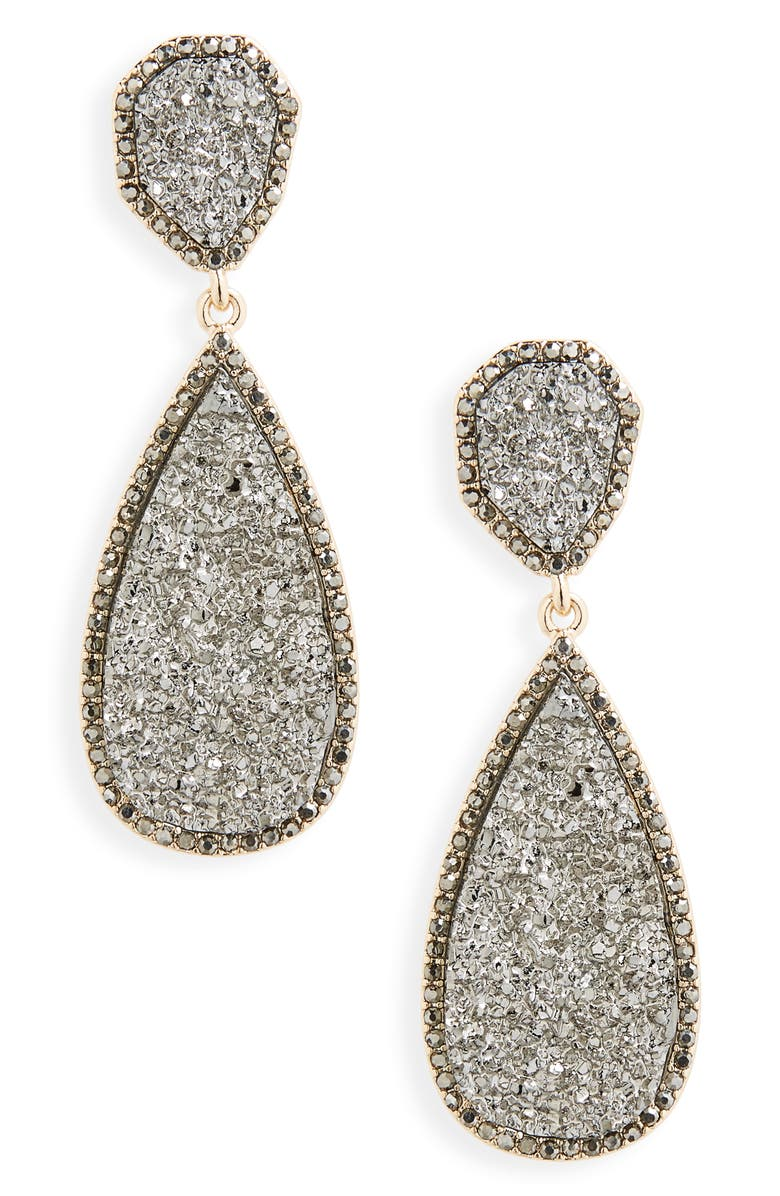 BAUBLEBAR Moonlight Drop Earrings, Main, color, MEDIUM GREY