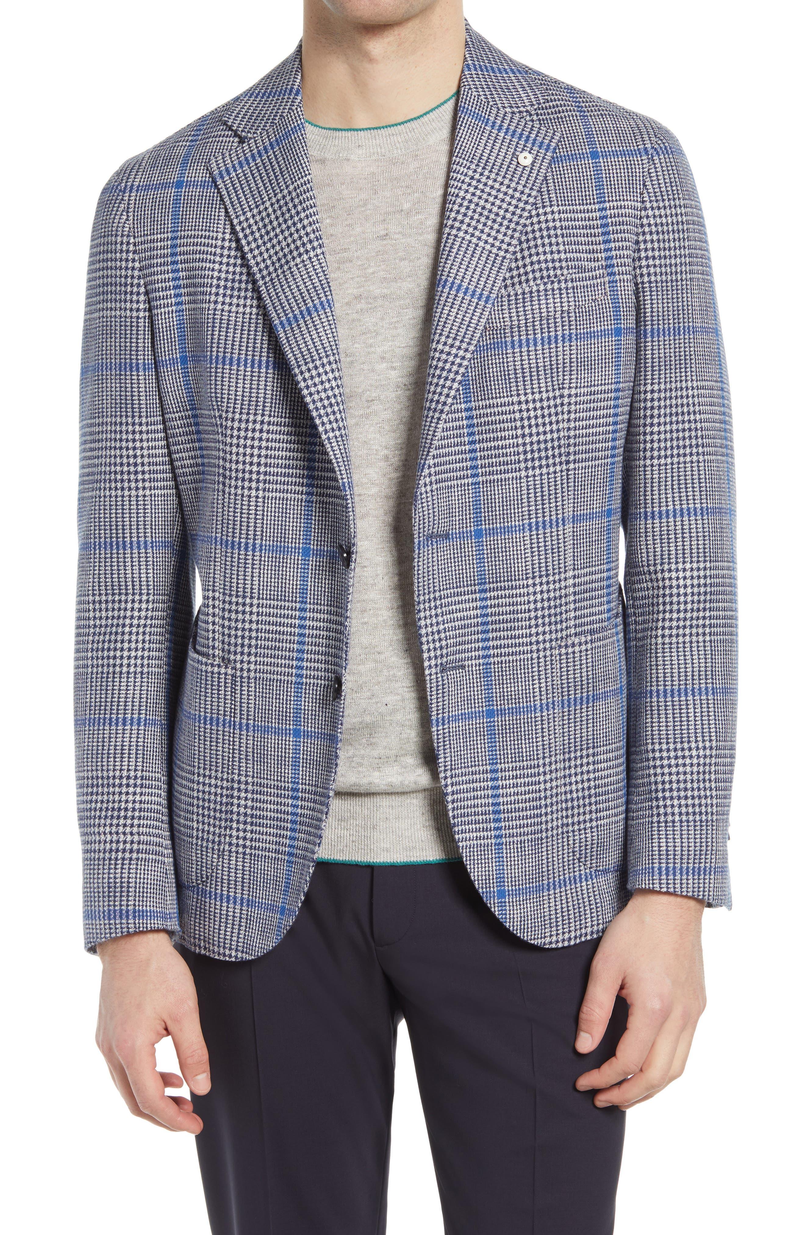 1911 Modern Fit Glen Plaid Cotton Sport Coat