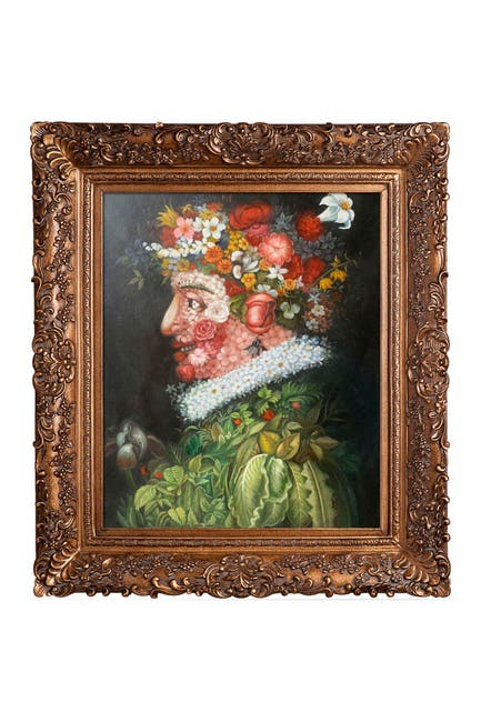 """Image of Overstock Art Spring with Burgeon Gold Frame , 29.5"""" x 33.5"""""""