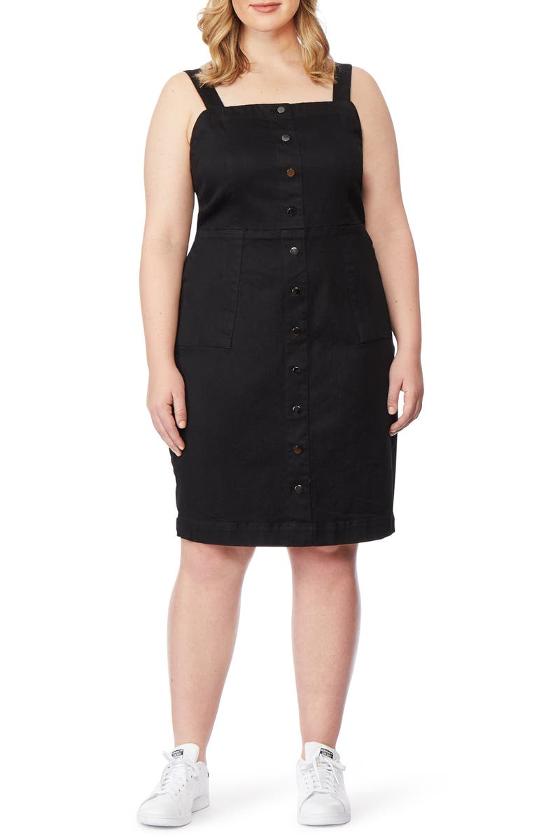 REBEL WILSON X ANGELS Denim Body-Con Dress, Main, color, 001