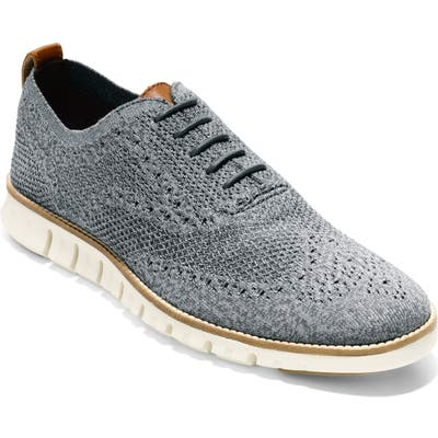 Cole Haan Zerogrand Stitch-Lite Wingtip Oxford- Grey