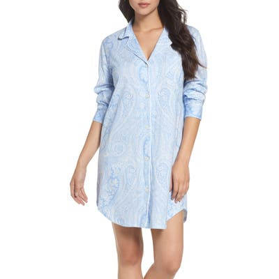 Lauren Ralph Lauren Cotton Jersey Sleep Shirt, Blue (Online Only)