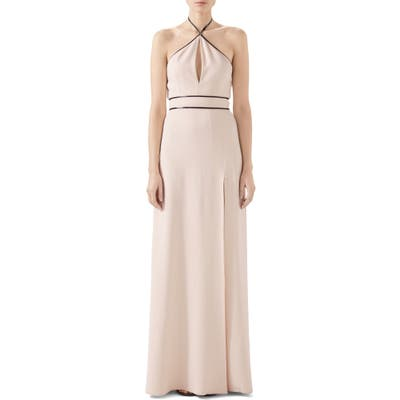 Gucci Tech Jersey Halter Gown, Ivory