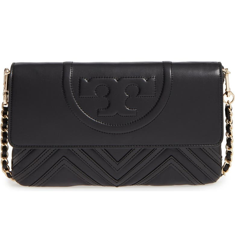 7f679832d08 Tory Burch 'Fleming Geo' Convertible Leather Clutch | Nordstrom