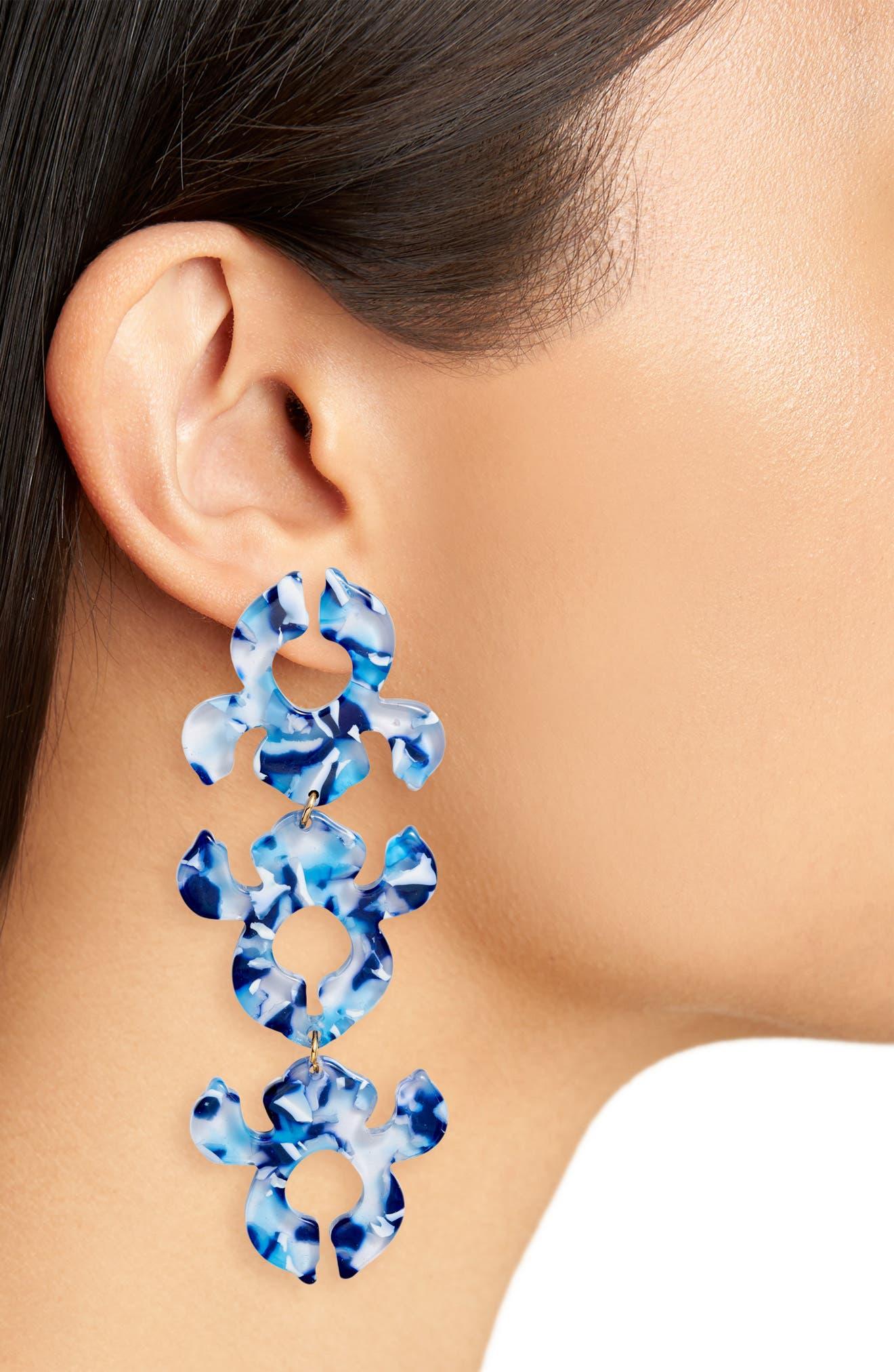 ,                             Iris Bouquet Shadow Drop Earrings,                             Alternate thumbnail 2, color,                             400