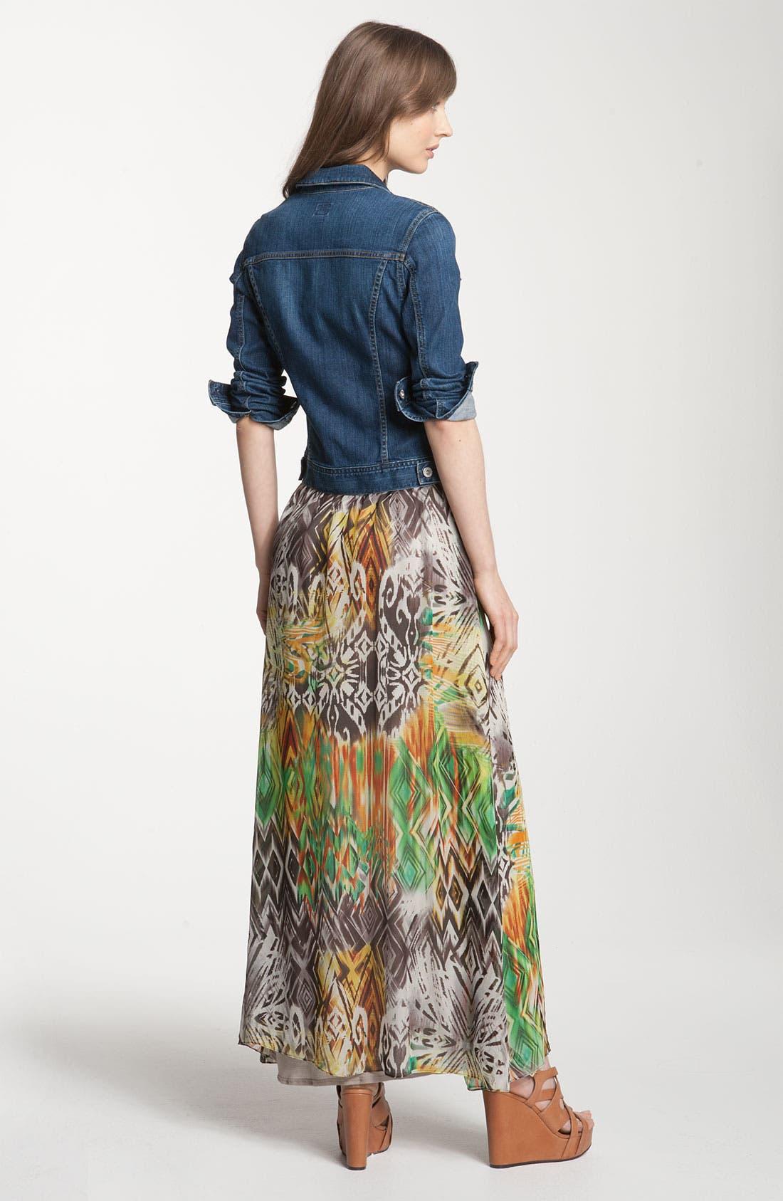 ,                             Print Maxi Dress,                             Alternate thumbnail 6, color,                             353