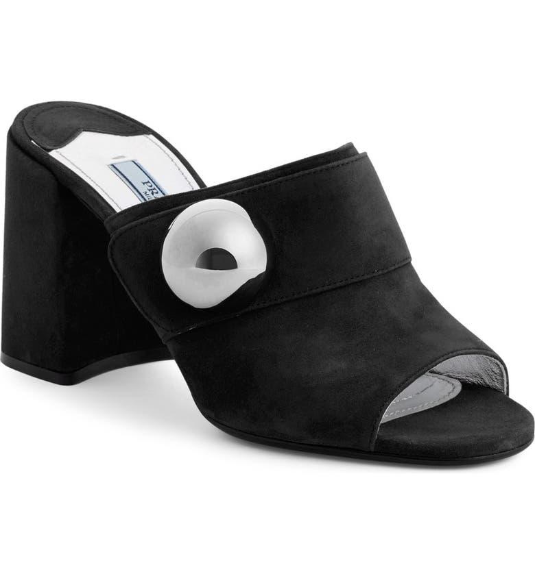 PRADA Mule Sandal, Main, color, 001