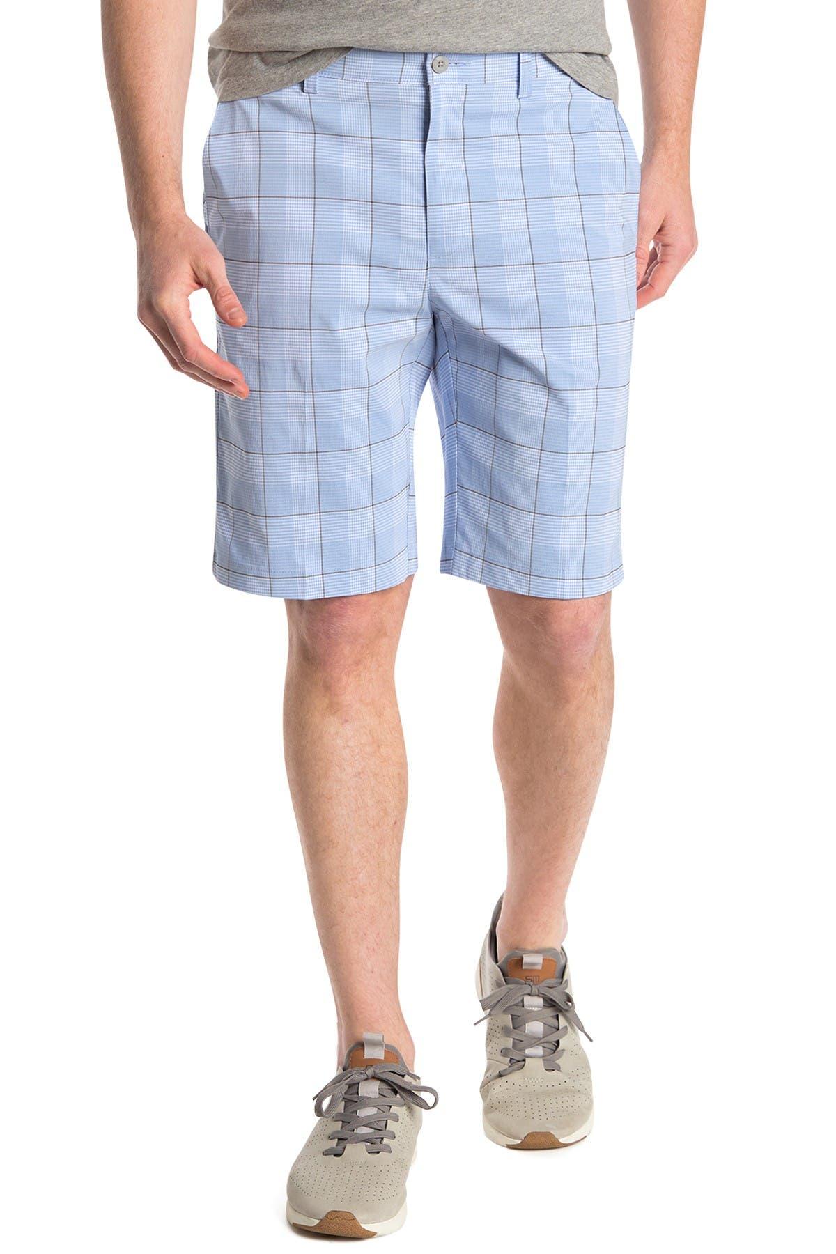 Image of PGA TOUR Plaid Flat Front Shorts