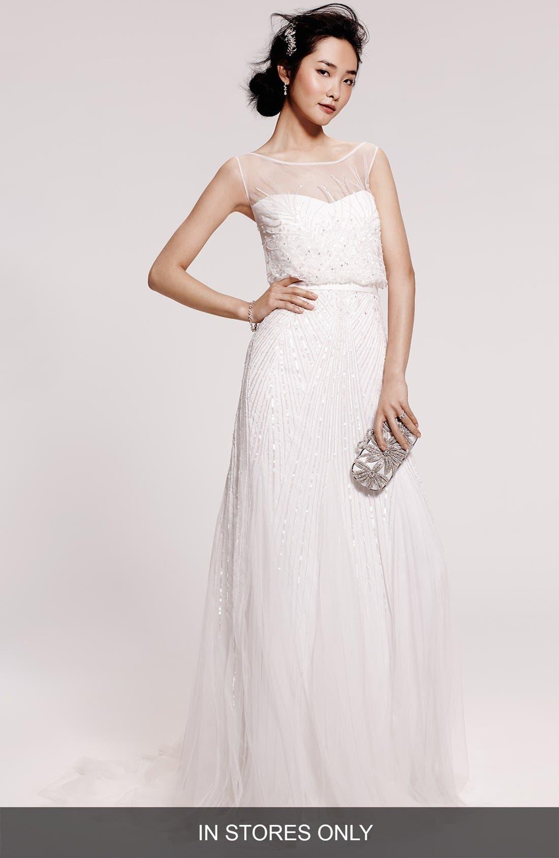 Rosa Clara Couture Ugo Beaded Sheath Gown