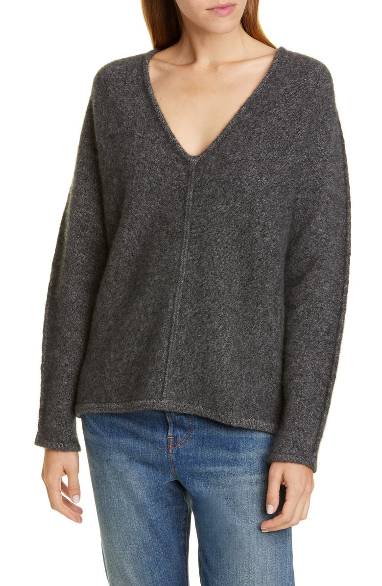 CO V-neck Cashmere Sweater, Main, color, CHARCOAL