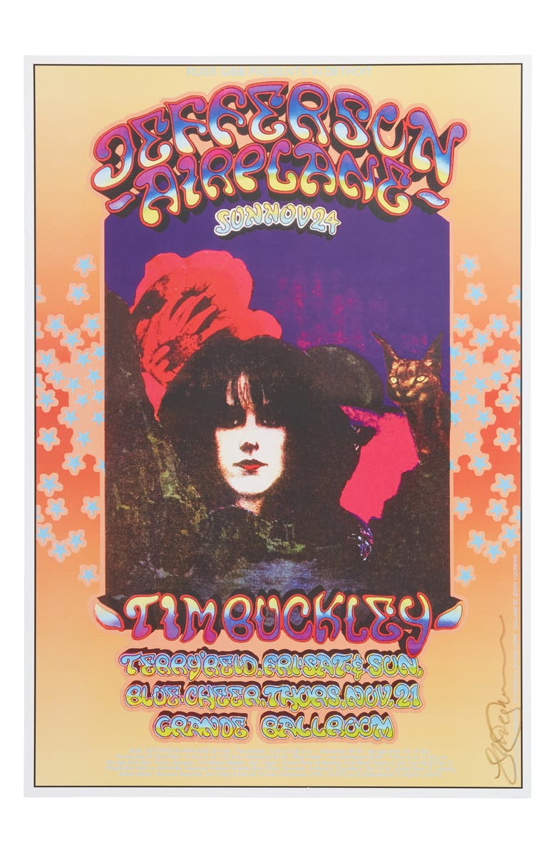 ANNA SUI Grande Ballroom Jefferson Airplane Poster, Main, color, PURPLE