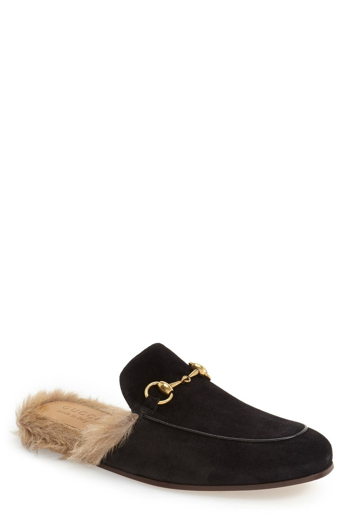 ,                             Princetown Genuine Shearling Lined Mule Loafer,                             Main thumbnail 8, color,                             002