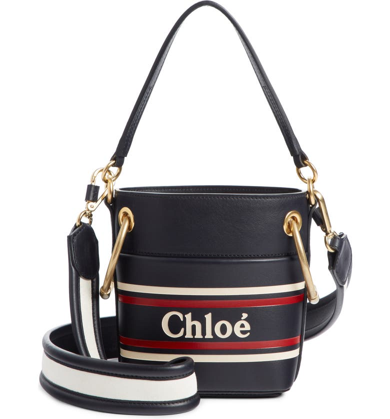 CHLOÉ Small Roy Leather Bucket Bag, Main, color, 401