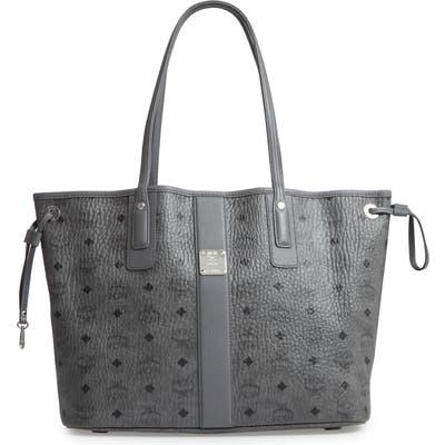 Mcm Medium Liz Reversible Shopper - Grey