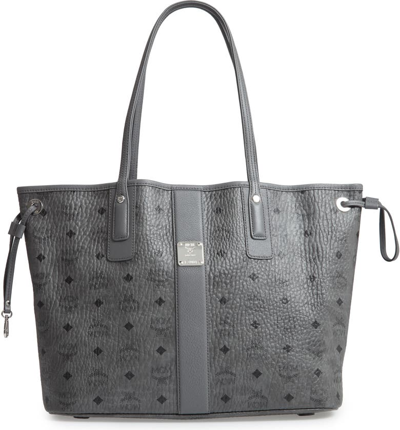 MCM Medium Liz Reversible Shopper, Main, color, PHANTOM GREY
