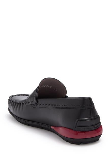 Image of Salvatore Ferragamo Moc Toe Penny Slot Strap Loafer