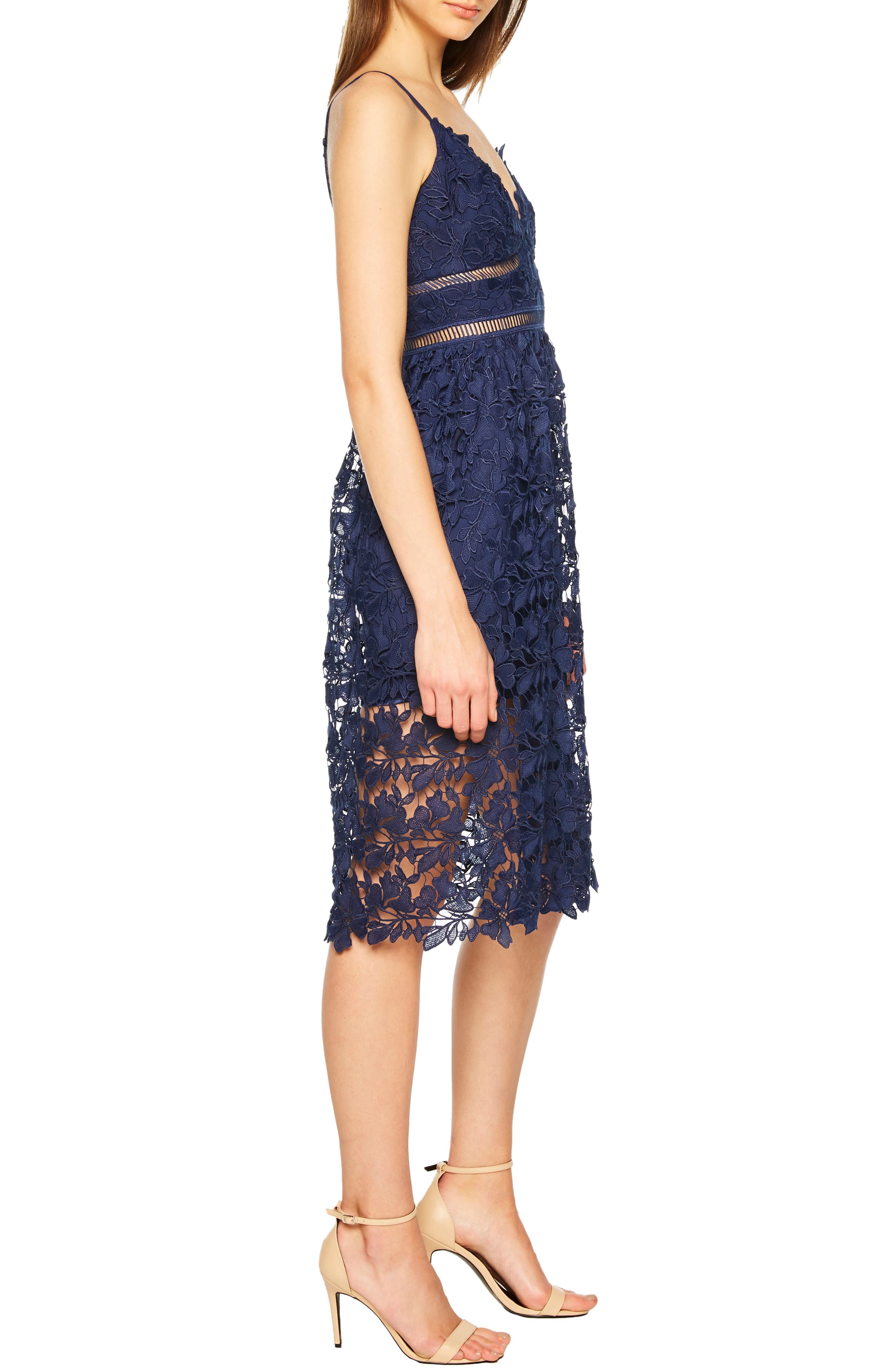 ,                             Sonya Lace Cocktail Dress,                             Alternate thumbnail 4, color,                             410