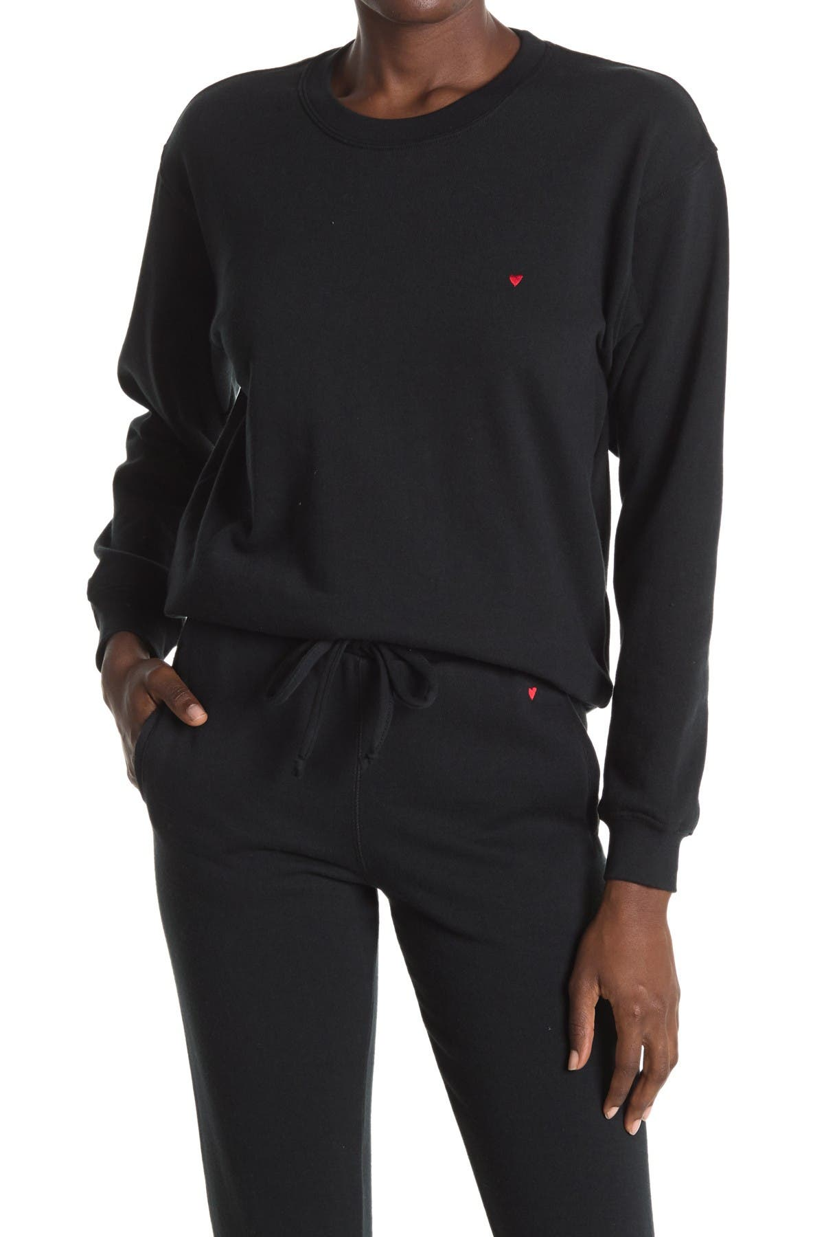 Image of Sub_Urban Riot Embroidered Heart Pullover Sweatshirt