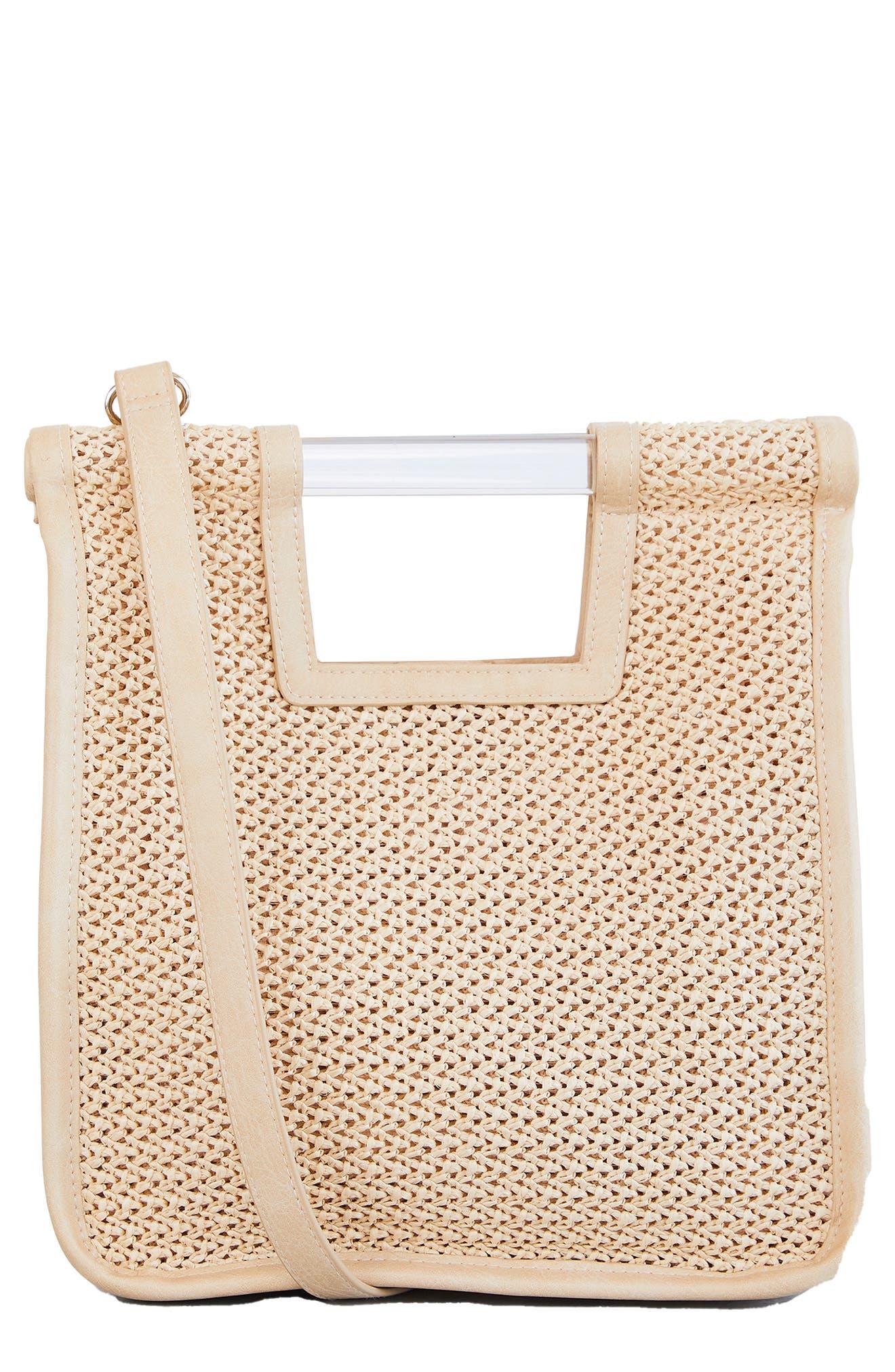 The Naturals Raffia Crossbody Bag