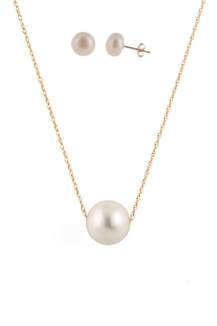 Image of Splendid Pearls 14K Gold Freshwater Pearl Set