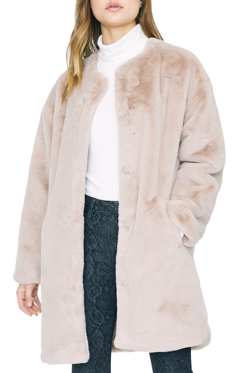 SANCTUARY Bronx Faux Fur City Coat, Main, color, 280
