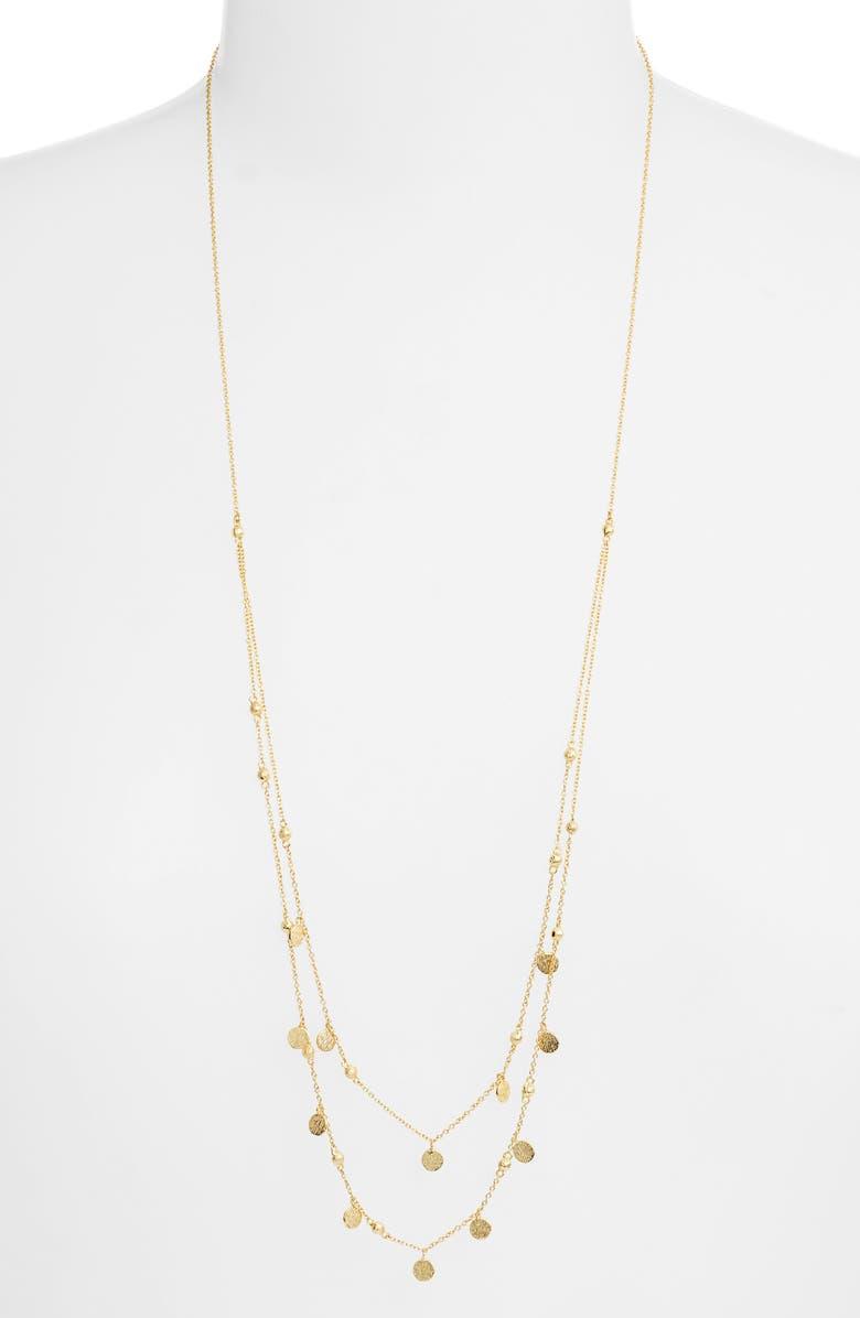 GORJANA Stella Layered Reversible & Adjustable Necklace, Main, color, GOLD