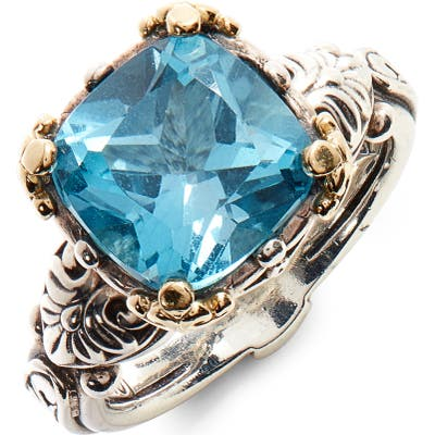 Konstantino Hermione Two-Tone Square Stone Ring