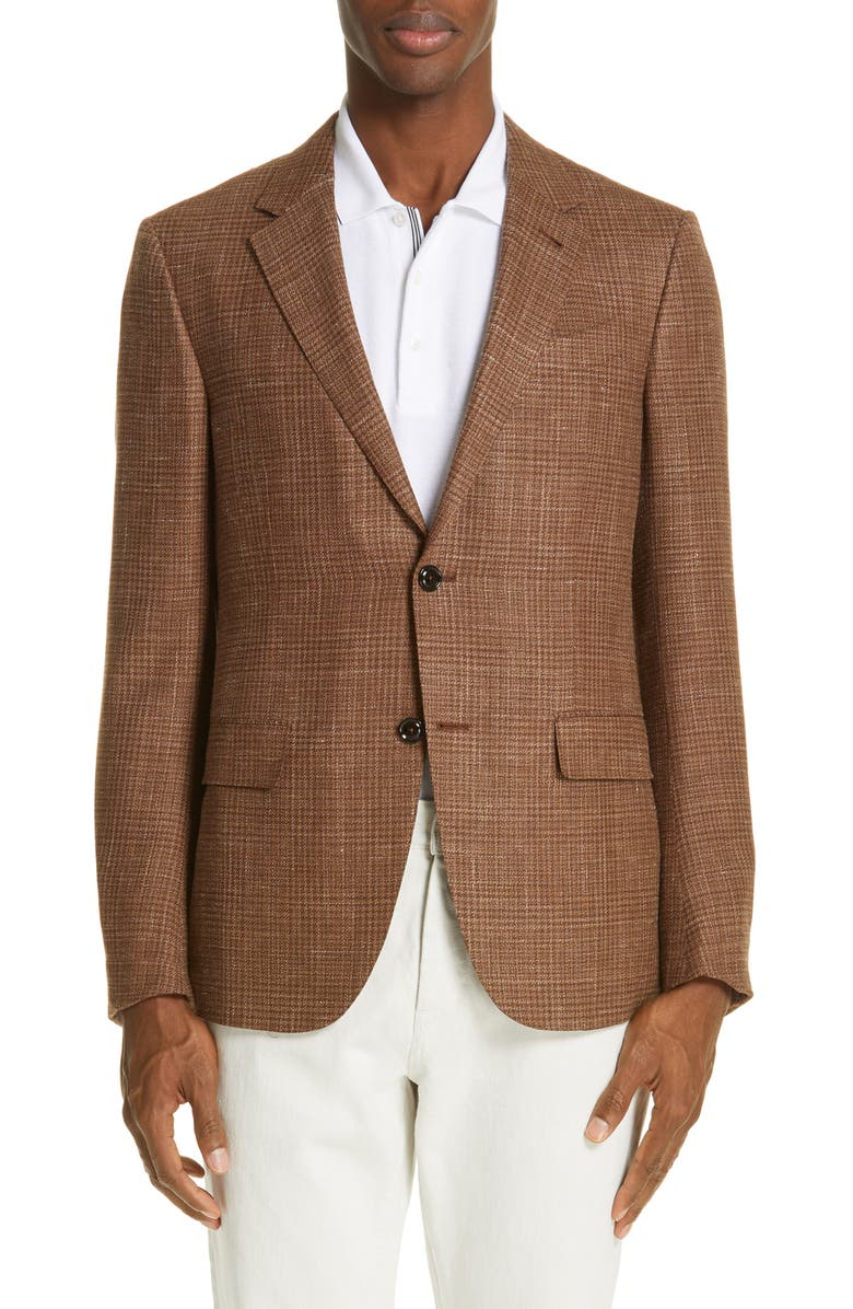 ERMENEGILDO ZEGNA Milano Classic Fit Plaid Sport Coat, Main, color, 250