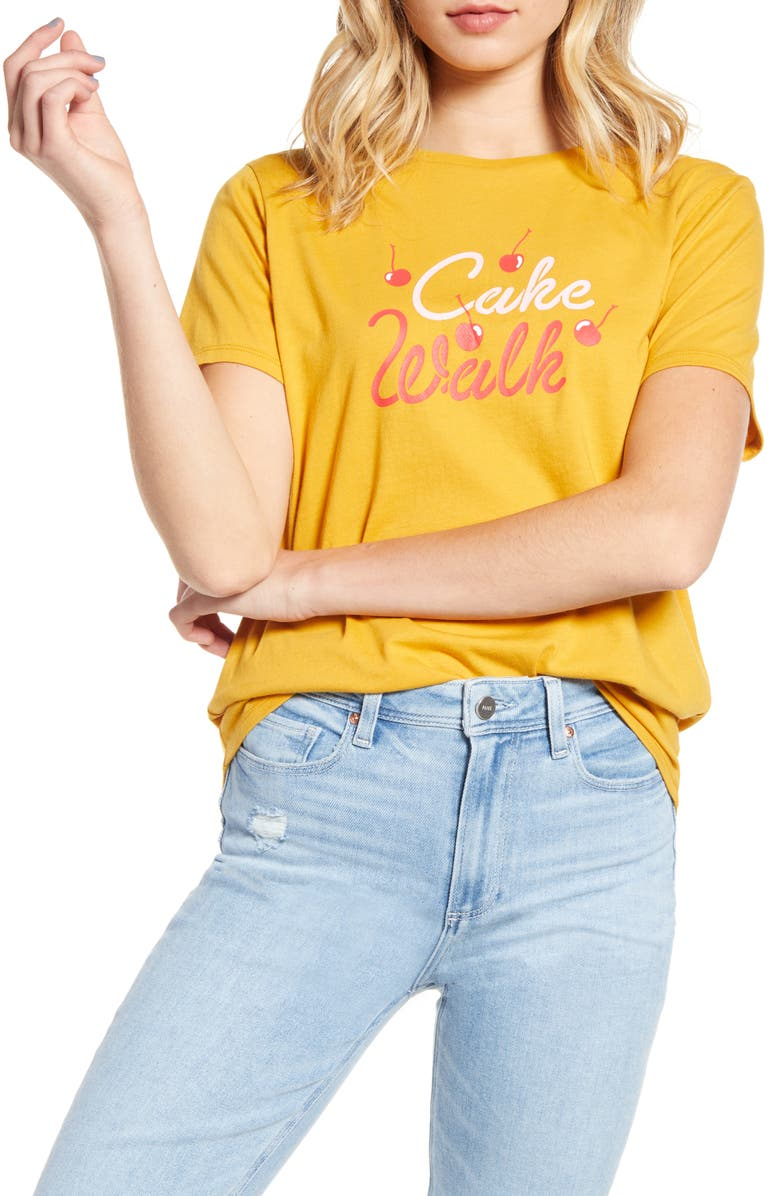 BAN.DO Cake Walk Tee, Main, color, YELLOW