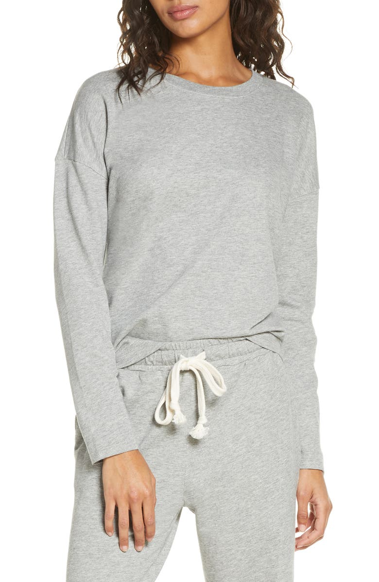 MADEWELL Pajama Sweatshirt, Main, color, HEATHER KOALA