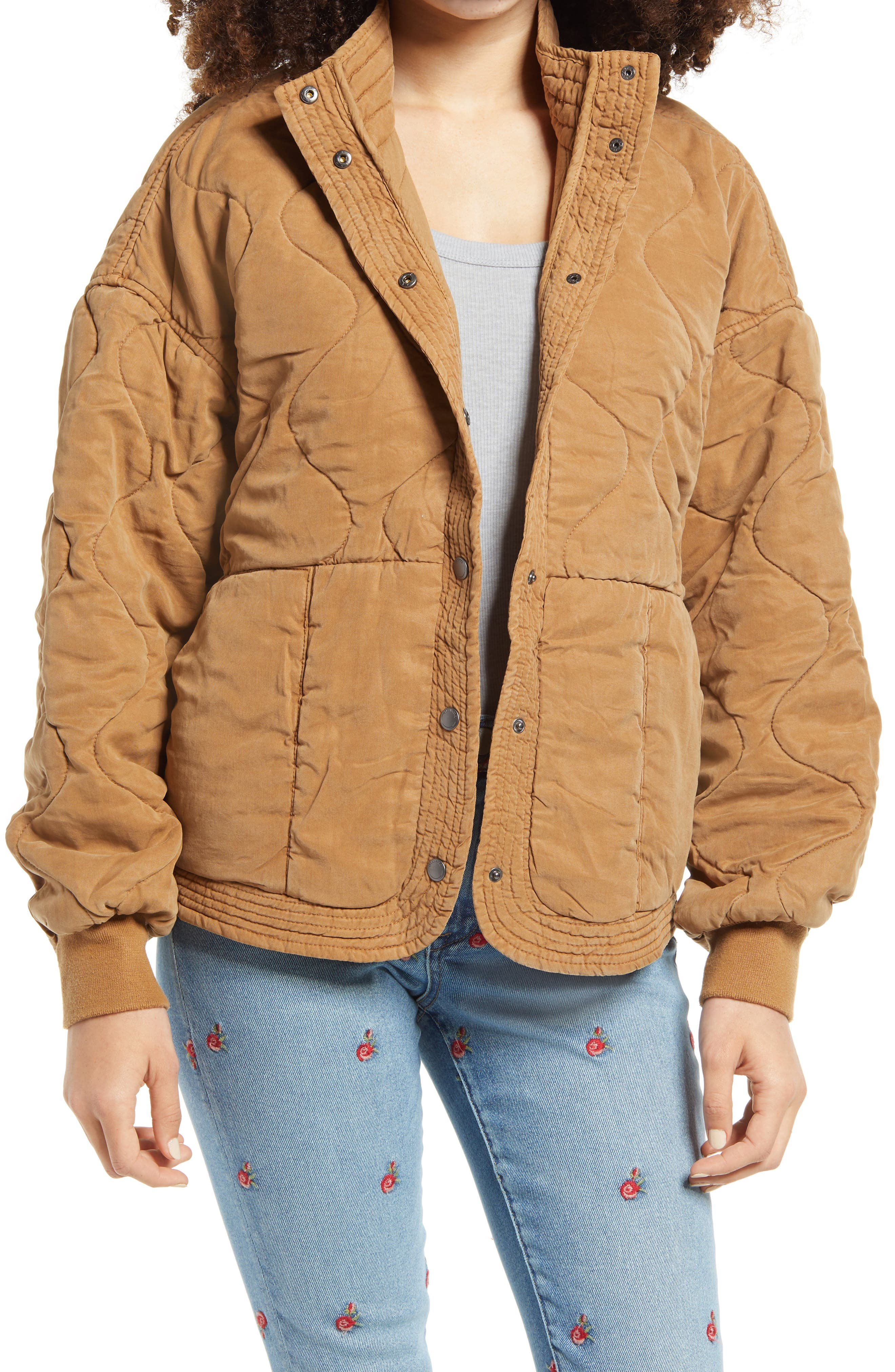 Women's Blanknyc Quilted Jacket, Size Small - Beige