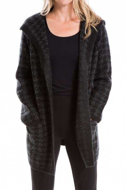 Image of Max Studio Houndstooth Intarsia Cardigan Coat
