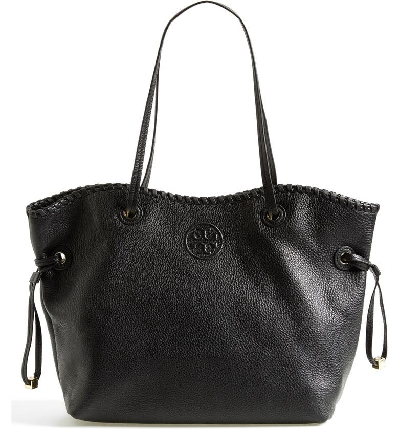 TORY BURCH 'Marion' Slouchy Tote, Main, color, 001