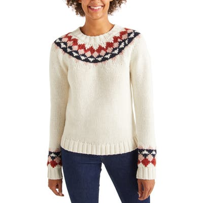 Boden Cordelia Fair Isle Wool & Alpaca Blend Sweater, Ivory