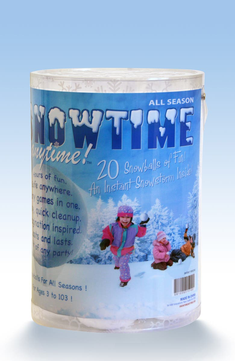 INDOOR SNOWBALL FIGHT Snowtime Anytime 20-Pack Snowballs, Main, color, WHITE