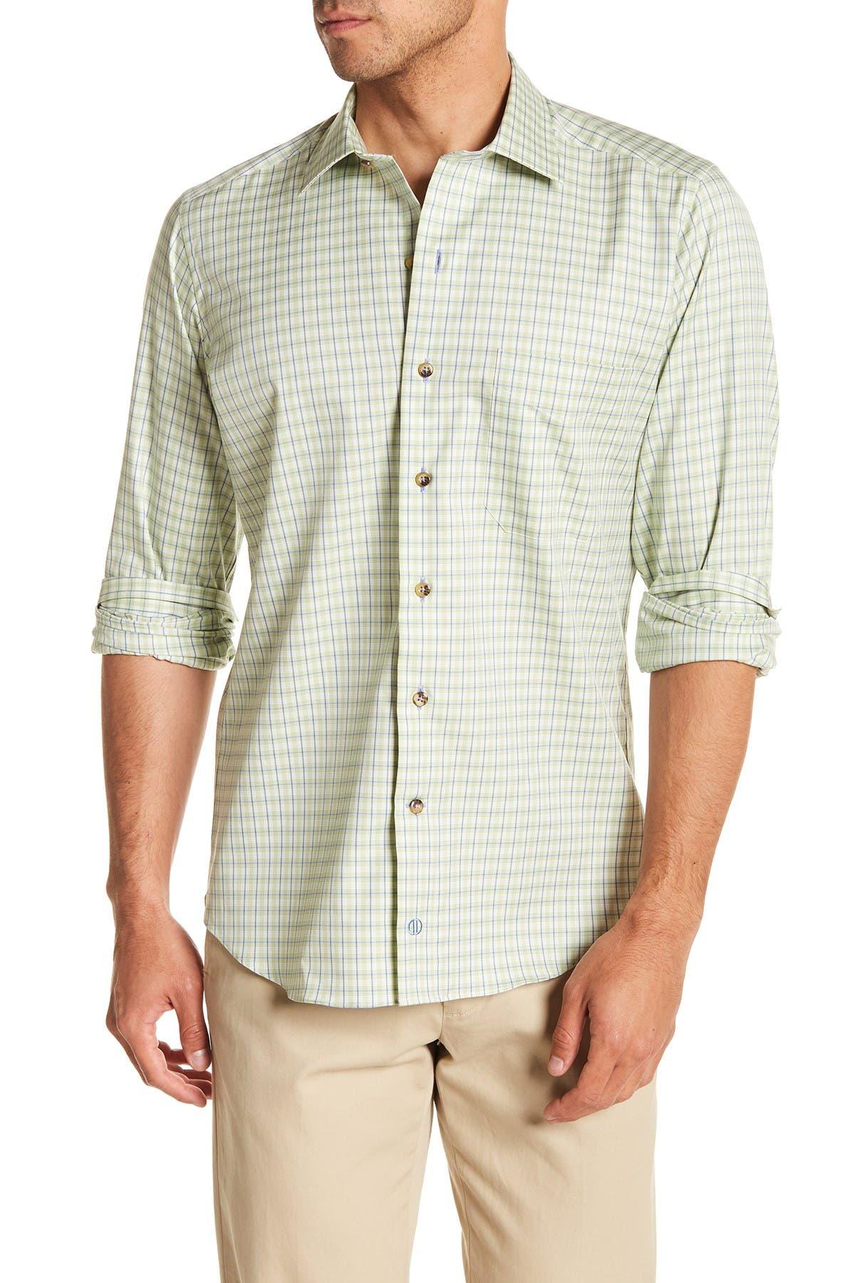 Image of David Donahue Check Casual Fit Shirt